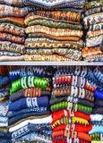 Alpaca clothing, La Paz, Bolivia. Colourful alpaca sweaters and cardigans for sale Royalty Free Stock Image