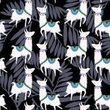 Alpaca illustration. background. vector illustration