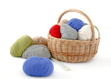 Alpaca knitting balls Royalty Free Stock Image