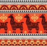 Alpaca Llama animal seamless pattern Royalty Free Stock Photo