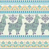 Alpaca Llama animal seamless pattern Royalty Free Stock Photos