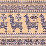 Alpaca Llama animal seamless pattern Stock Images
