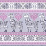 Alpaca Llama animal seamless pattern Stock Photography