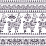 Alpaca Llama animal seamless pattern Stock Photo