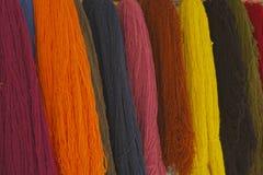 Alpaga de filés de textile de plan rapproché Images libres de droits