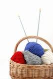 Alpaga multicolore di lana Immagini Stock