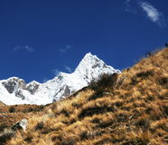 Alpamayo peak Stock Image