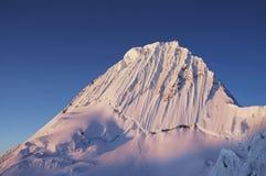 Alpamayo peak on sunset Royalty Free Stock Photography