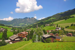 alpbachtal regiontyrol semester Royaltyfri Bild