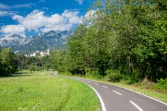 Alpe Adria cycle path, Italy. Royalty Free Stock Image