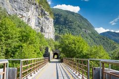 Alpe Adria cycle path, Italy Stock Photos