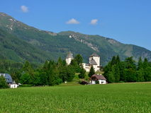 Alpe-castello austriaco Mauterndorf Fotografia Stock Libera da Diritti