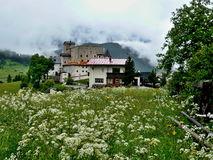 Alpe-castello austriaco Naudersberg Immagine Stock