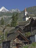 Alpe Cheggio in Val Antrona Immagine Stock