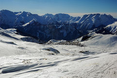 alpe d huez手段滑雪 库存照片