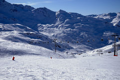 alpe d huez手段滑雪 免版税库存照片