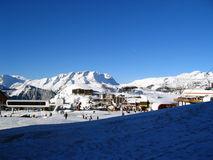 Alpe d'Huez. Pictures of the winter sport station of Alpe d'huez in france Stock Photo