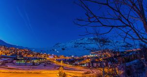 Alpe d'Huez Evening Timelapse 4k stock footage