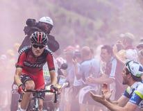 Alpe d'Huez s'élevant Photo libre de droits