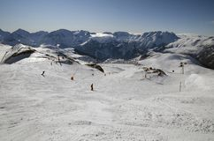 Alpe d'Huez ski resort. France Stock Photo
