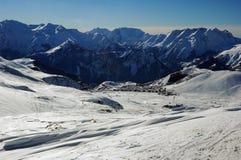 Alpe d'Huez Skiort Stockfoto