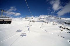 Alpe d'Huez, top resort in french Alps. Image of snowy mountains in Alpe d'Huez Royalty Free Stock Photography