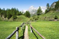 Alpe Devero vicino al villaggio di Crampiolo Fotografie Stock