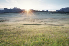 Alpe Di Siusi ανατολή Στοκ φωτογραφία με δικαίωμα ελεύθερης χρήσης