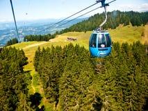 Alpe di siusi cablecar Royaltyfria Foton