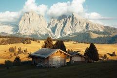 Alpe di Siusi, dolomia, Italia Fotografie Stock