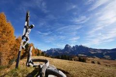 Alpe di Siusi, dolomia, Italia Fotografia Stock