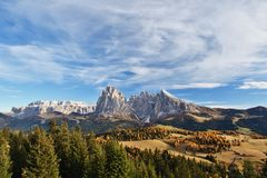 Alpe di Siusi, Dolomites, Italy Royalty Free Stock Images
