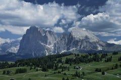 Alpe di siusi nel Tirolo del sud, Italia Immagine Stock