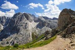 Alpe di siusi nel Tirolo del sud, Italia Immagini Stock Libere da Diritti