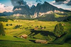 Alpe di Siusi Seisser Alm Fotografia Stock