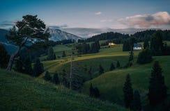 Alpe di Siusi Seisser Alm Fotografia Stock Libera da Diritti