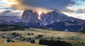 Alpe Di Suisi, dolomia, Italia Immagine Stock Libera da Diritti