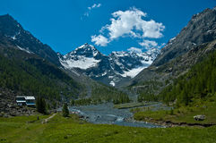Alpe di Ventina, Valmalenco - Italia Fotografia Stock Libera da Diritti