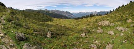 Alpe nelle montagne di Raetikon Fotografia Stock Libera da Diritti