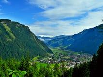 Alpe-Outlook austriaco della città Mayrhofen Immagine Stock Libera da Diritti