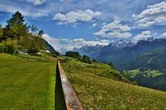 Alpe-Outlook svizzero da Guarda Fotografia Stock Libera da Diritti