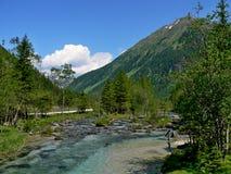 Alpe-valle austriaca Weisspriachtal Fotografia Stock Libera da Diritti