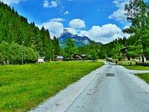 Alpe-vista austriaca del Bischofsmutze di punta Fotografia Stock Libera da Diritti