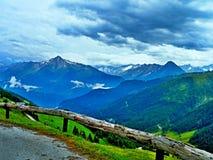 Alpe-vista austriaca sulle alpi dalla strada di Zillertaler Fotografia Stock Libera da Diritti