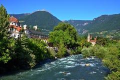 Alpe-vista italiana del Merano Fotografia Stock