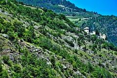Alpe-vista italiana per fortificare Juwal Fotografia Stock Libera da Diritti