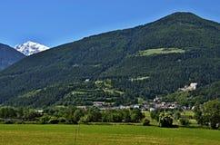Alpe-vista italiana per fortificare Montechiaro Fotografie Stock Libere da Diritti