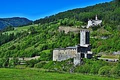 Alpe-vista italiana sul castello Principe e sul monastero di Marienberg Fotografia Stock Libera da Diritti
