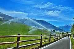 Alpe-vista italiana sul cyclinst a Laudes Fotografia Stock