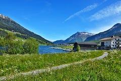 Alpe-vista italiana sul lago Haidersee Immagini Stock